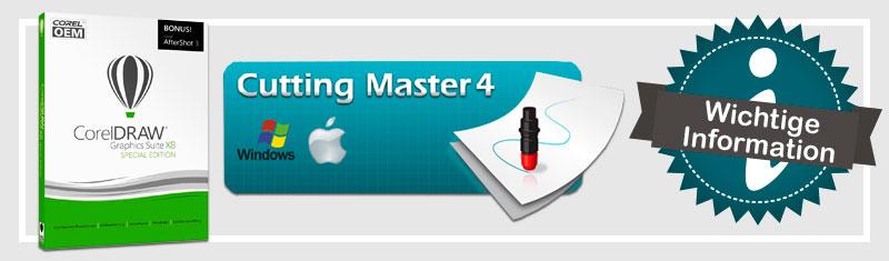 CorelDRAW X8 mit Cutting Master 4