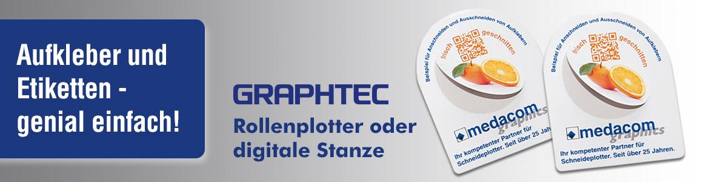 Aufkleber und Etiketten mit Graphtec Plotter
