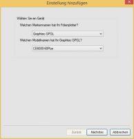 Graphtec Ansteuerung: Geräteauswahl