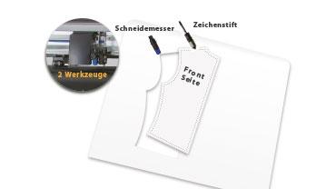 Doppelter Werkzeugkopf des Graphtec Schneideplotter für Apparel