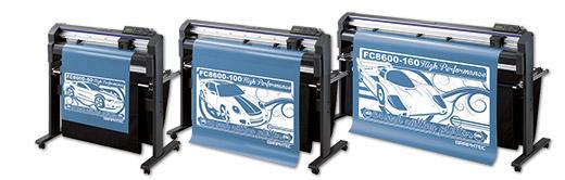 Dieses Bild zeigt die Graphtec FC8600-Serie, Schneideplotter für die Produktion