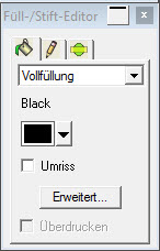 Graphtec Pro Studio - Füllstift-Editor