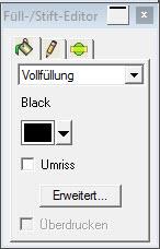 Graphtec Pro Studio - Füllstift-Editor