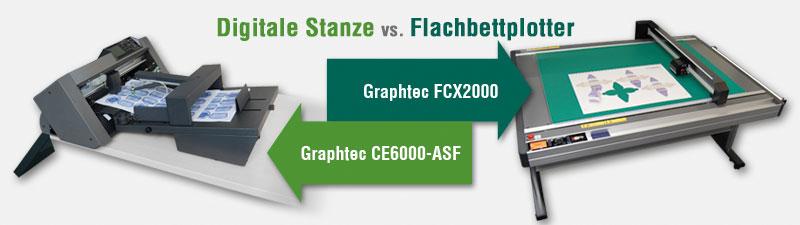 Digitale Stanze vs. Flachbettplotter