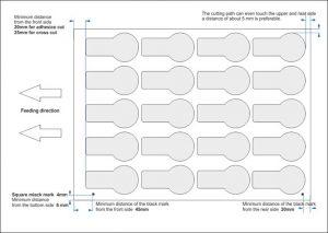 Auch der einfache Aufbau der Grafik für die digitale Stanze macht individuelle Etiketten preiswert
