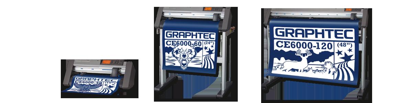 Dieses Bild zeigt die Graphtec CE6000 Schneideplotter Serie