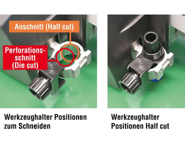 Werkzeughalter mit 2 Positionen können sie  beim Graphtec Schneideplotter kaufen