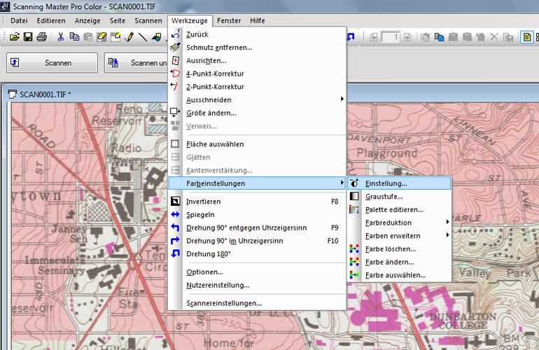 Datenkorrekur mit der Scanner Software Scanning Master Pro Color