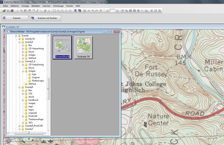 Datenmanagement mit der Scanner Software Scanning Master Pro Color