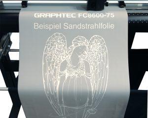 Sandstrahlfolie für Steinmetz erstellen mit einem Graphtec Schneideplotter aus der FC8600-Serie